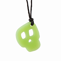 Chewigem Chuck Skull Pendant - Glow-in-the-Dark