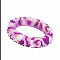 Cotton Candy Tread Chew Bangle