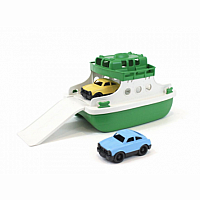 Ferry Boat with Cars - White / Green