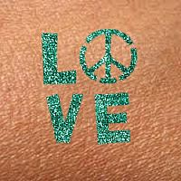 Love, Peace and Happiness Glitter-Toos Kit