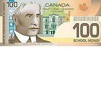 $100 Bills - Canadian Play Money