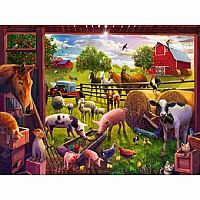 Animals of Bell's Farm-24pc Floor Puzzle