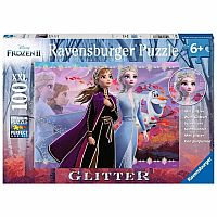 Frozen 2: Strong Sisters (Glitter) - 100 Piece Puzzle