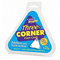 Addition and Subtraction Three-Corner Flashcards