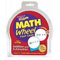 Addition and Subtraction Math  Wheel Flashcards