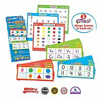 Alphabet, Numbers, Colours and Shapes Bingo