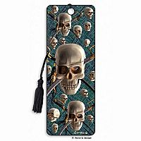 Pirate Skulls 3D Bookmark
