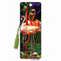 Flamingos 3D Bookmark