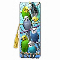 Budgies 3D Bookmark