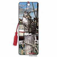 Wharf Cats 3D Bookmark