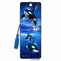 Orcas 3D Bookmark
