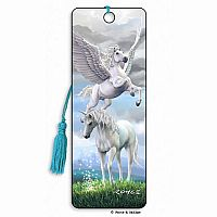 Pegasus & Unicorn 3D Bookmark