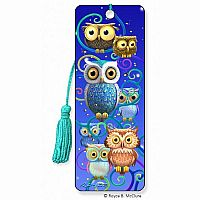 Night Owls 3D Bookmark