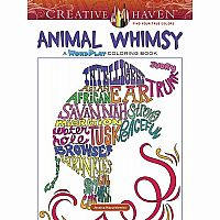 Animal Whimsy: A Word Play Colouing Book