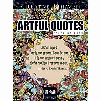 Creative Heaven Deluxe Edition Artful Quotes Colouring Book