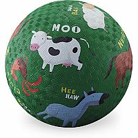Barnyard Green Playground Ball 7 inches