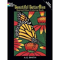 Beautiful Butterflies Colouring Book - Stained Glass