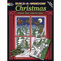 Build a Window Christmas Colouring Book - Stained Glass