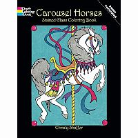 Carousel Horses Colouring Book - Stained Glass