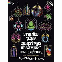 Christmas Ornament Colouring Book - Stained Glass