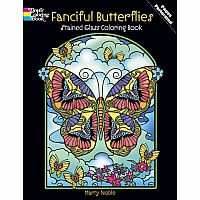 Fanciful Butterflies Colouring Book - Stained Glass