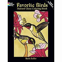 Favourite Birds Colouring Book - Stained Glass