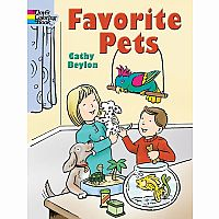 Favourite Pets Colouring Book