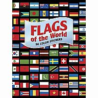 Flags of the World; 96 Colour Stickers