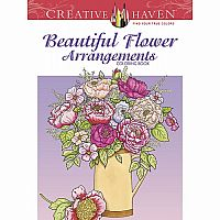Beautiful Flower Arrangements Colouring Book