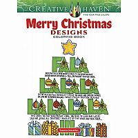 Creative Haven Merry Christmas Designs Colourig Book