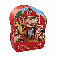 Barnyard Mini Shaped Puzzle - 24 Pieces